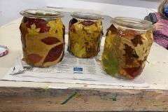 Herbst-Dekoration Gläser