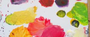 von Kindern gemaltes Bild