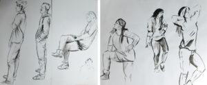 Skizzen Zeichnung von Menschen